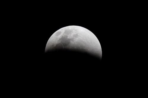 Mặt trăng lúc sắp bị che bóng